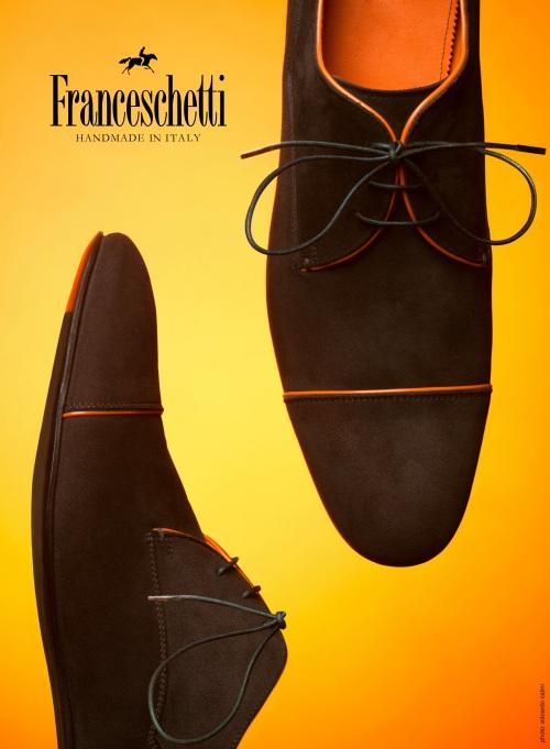 SS2013 Orange & Chocolate derby model by Franceschetti