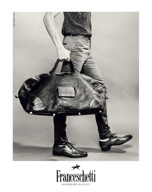 Leather travel Duffel by Franceschetti