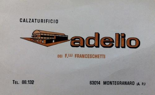 biglietto da visita Calzaturificio Adelio
